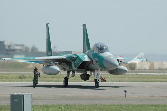 资料图:日本航空自卫队F-15战斗机