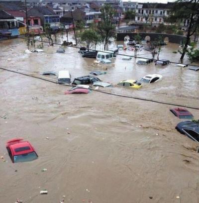 宁波余姚遭百年不遇水灾70%以上城区被淹(图)