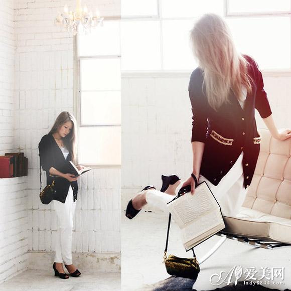 欧美 外套/【外套+裤子秋装搭配指南】毛衣外套+白色窄脚裤