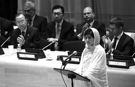 联合国总部发表演讲的马拉拉