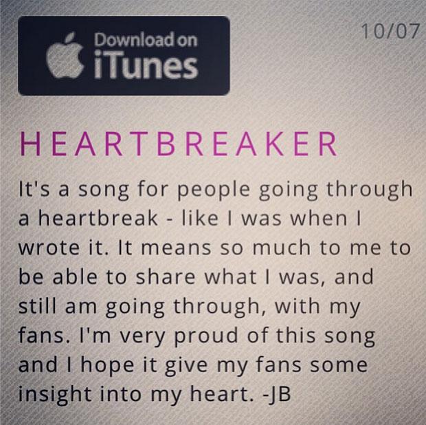 《heartbreaker》是略带伤感的r&b风格,似乎贾斯汀想通过这首歌