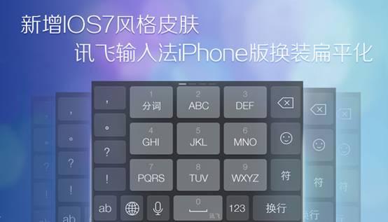 新增iOS7风格皮肤 讯飞输入法iPhone版换装扁