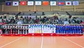 图文:女子排球中国队获冠军 获奖队伍集体合影