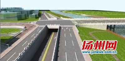 泰州路下穿通道月底开建 直行车辆将不受信号灯控制