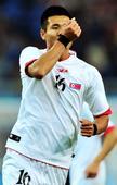 东亚运:中国男足0-3朝鲜 朝鲜队员庆祝