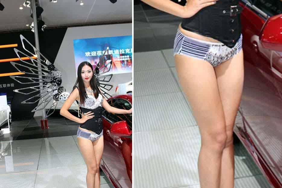 武汉车展模特;