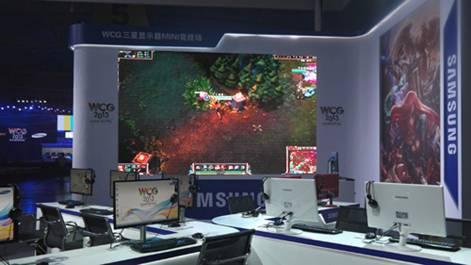 WCG2013 三星展台游戏对战区