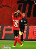 中超图:宏运1-1恒大 金泰延庆祝