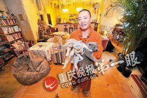 老板夏涛说和猫咪在一起内心很安静