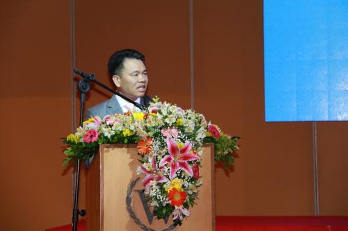 巴西中国和平统一促进会会长尹楚平在致辞 记者 王海林 摄