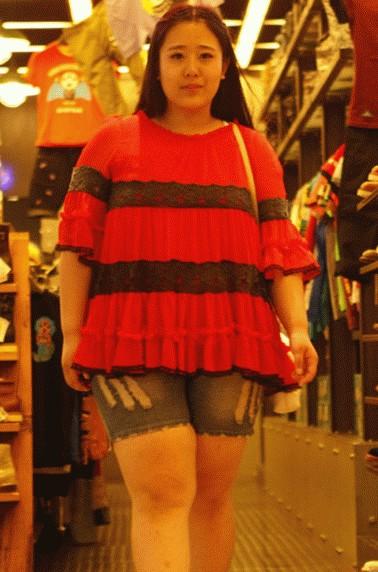 最美女胖子减肥后显憔悴 竖