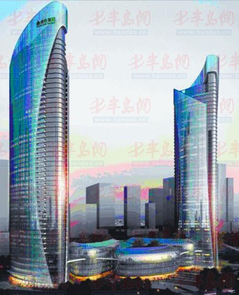 建筑高度超200米的超高双子塔地块已完成土地拍卖,绿地集团最终竞得该