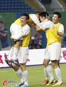中超图:申鑫1-0富力 狂欢庆祝进球