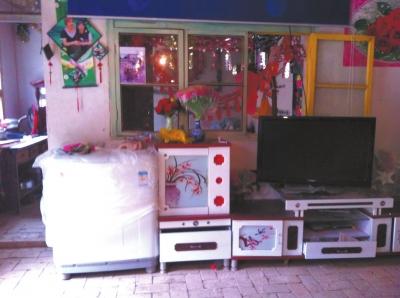麻永东屋里的家具电器仍是崭新的。