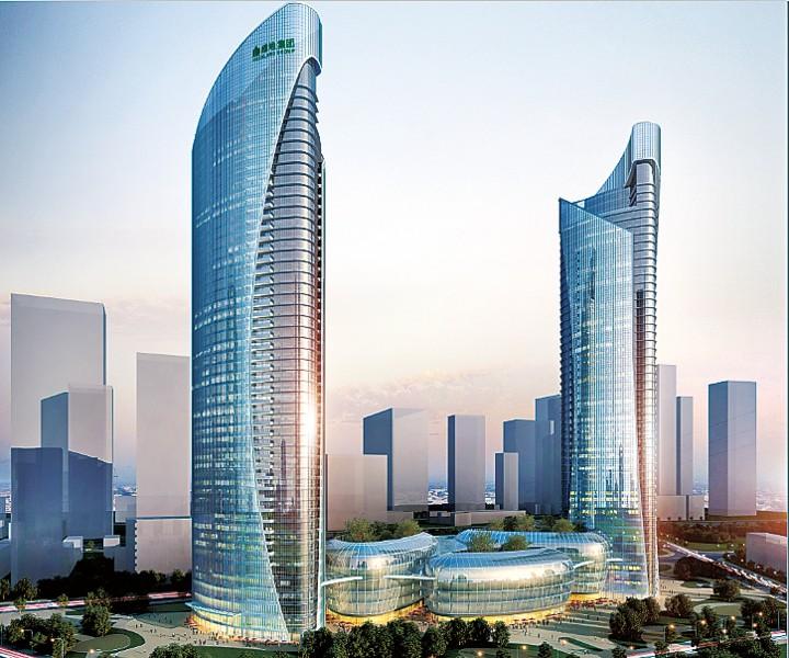 双子塔项目地块在市公共资源交易大厅进行了拍卖,绿地集团竞得该宗