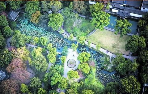 空中看拙政园