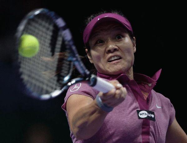 图文:WTA总决赛李娜开门红 猛将李娜