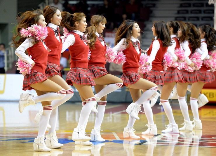 韩国篮球拉拉队美女;