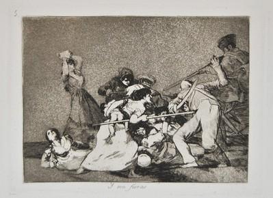 战争灾难之就像野兽,1812-15年(1863年第一版),铜蚀版画,16.3×26厘米