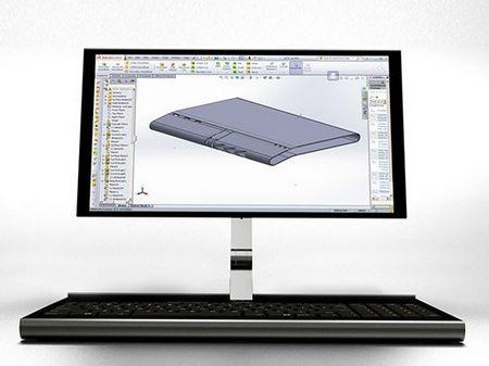 这是由设计师marin myftiu设计的一款概念笔记本电脑,其最大的特色图片