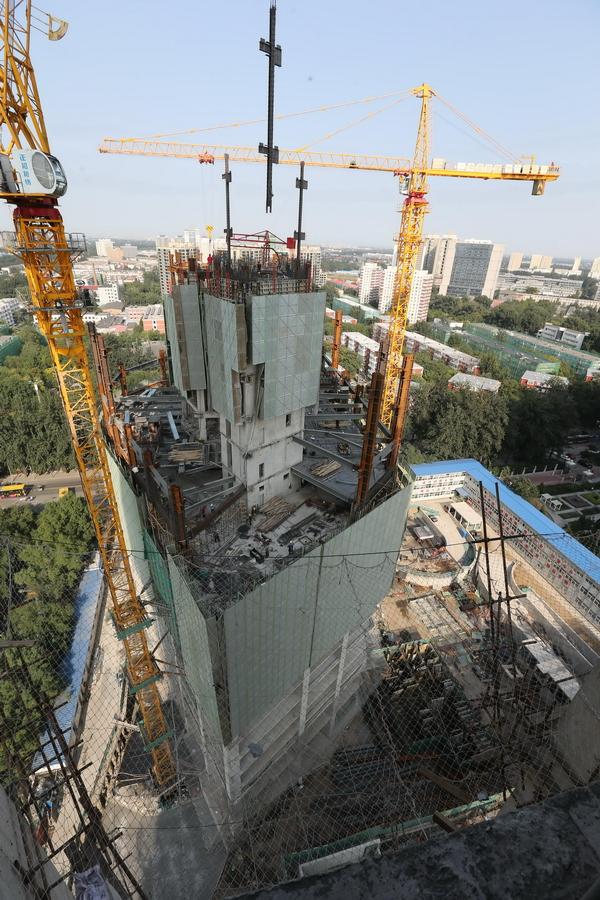 饭店主体结构提前封顶