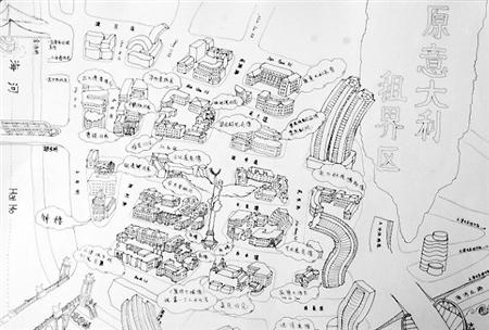 份原创的天津手绘地图
