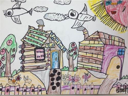 我的家绘画图片_我的家园绘画作品图片