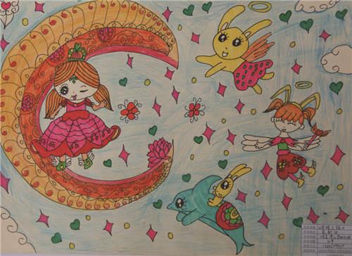 幼儿园绘画作品图片 少儿梦想绘画大全