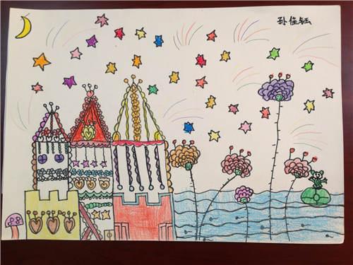 孙佳钰 9岁 公主的城堡-少儿绘画大赛作品展示 湖南地区