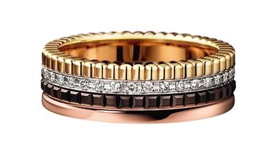 宝诗龙高级珠宝镶嵌多层环状戒指