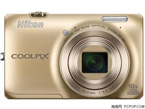 尼康(Nikon)S6300 数码相机 金色(1602万像素 2.7英寸液晶屏 10倍光学变焦 25mm广角)数码相机
