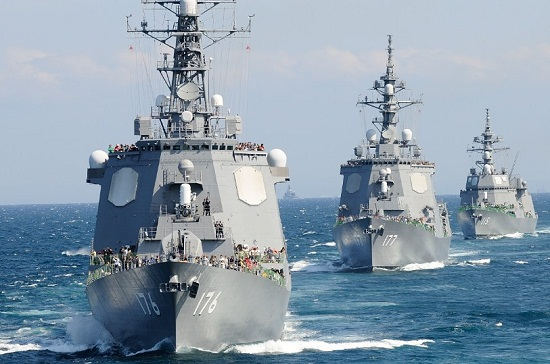 日本海上自卫队的宙斯盾级护卫舰拥有最先进的反导系统。