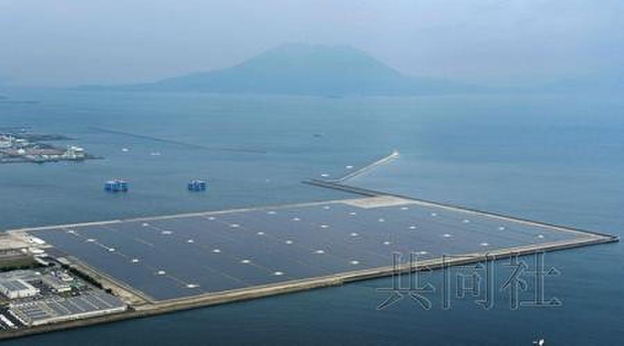 日本最大规模太阳能发电站在鹿儿岛落成(图)