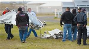 图为飞机残骸