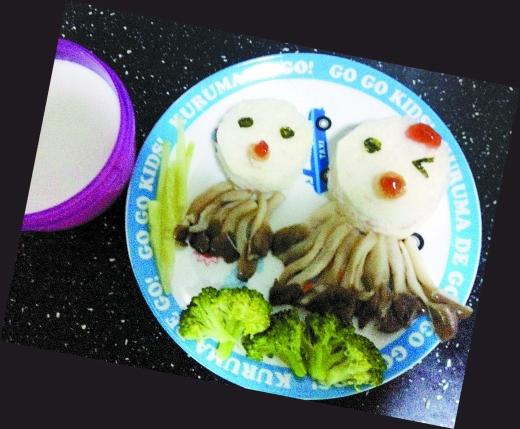 创意 重庆/80后刘雯嘉一年来给儿子做了近200份造型可爱的早餐,每份都有...