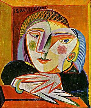 两个小孩毕加索名画被拍卖1.72亿引波澜 图高清图片