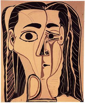 万达集团拍下毕加索名作 两个 两个小孩毕加索名画被拍卖1.高清图片