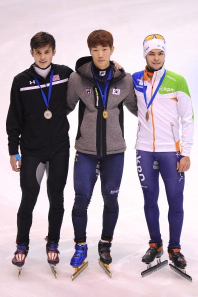 图文:短道世界杯意大利站 男子1500米前三名