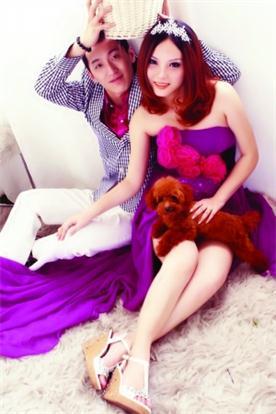 刘杰和陈天翼的婚纱照。刘杰 供图