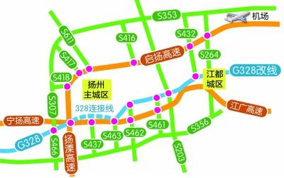 高邮到扬州地图
