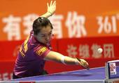 图文:[乒超]女团决赛八一胜鲁能 李晓霞回球