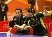 图文:[乒超]女团决赛八一胜鲁能 郭跃在比赛中