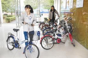得邦厂区也有了公共自行车(组图)
