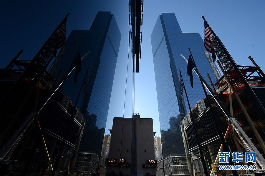 世贸大楼问鼎美国最高建筑物 被誉为复活标志