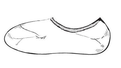 袜子手绘效果图