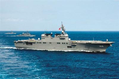 """日本海上自卫队""""直升机航母""""伊势号。资料图片"""