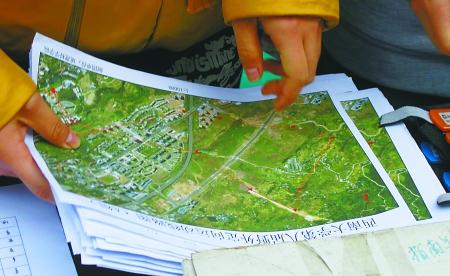定向越野赛的地图图片