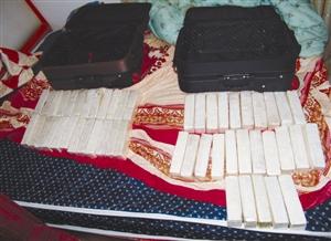 大批毒品可卡因被缴获(警方供图)