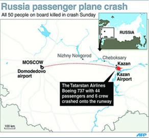 """俄坠毁客机被证实为服役23年的""""六手""""飞机(图)"""