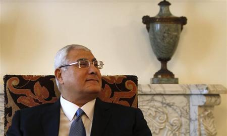 埃及临时总统曼苏尔资料图